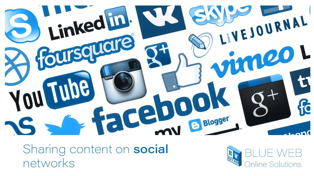 shering content on social networks